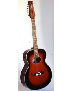Гитара 12-ти струнная RENOME RGL12-redsb