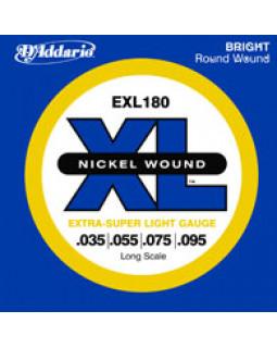 Струны для бас-гитары DADDARIO EXL180