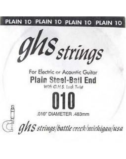 GHS STRINGS 010 Струна №1 для акустической/электрогитары