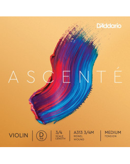 D'ADDARIO ASCENTÉ VIOLIN SINGLE D STRING 3/4 Scale Medium Tension