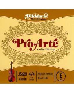 D'ADDARIO PRO-ARTÉ VIOLIN SINGLE E STRING 4/4 Scale Medium Tension