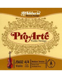 D'ADDARIO PRO-ARTÉ VIOLIN SINGLE A STRING 4/4 Scale Medium Tension