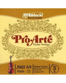 D'ADDARIO PRO-ARTÉ VIOLIN SINGLE D STRING 4/4 Scale Medium Tension