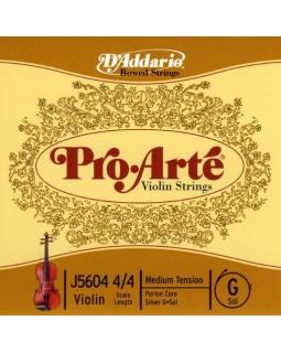 D'ADDARIO PRO-ARTÉ VIOLIN SINGLE G STRING 4/4 Scale Medium Tension