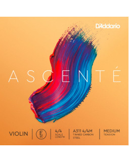 D'ADDARIO ASCENTÉ VIOLIN SINGLE E STRING 4/4 Scale Medium Tension