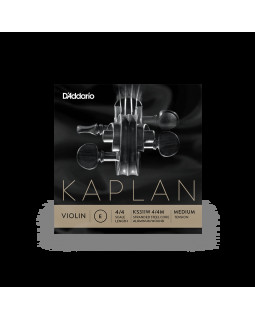 D'ADDARIO KAPLAN VIOLIN Non-Whistling Aluminum Wound E String 4/4 Scale Medium Tension