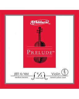 D'ADDARIO PRELUDE VIOLIN SINGLE E STRING 4/4 Scale Medium Tension