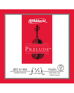 D'ADDARIO PRELUDE VIOLIN SINGLE D STRING 4/4 Scale Medium Tension
