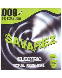 SAVAREZ S50XL струны для электрогитары Nickel Essential 0,09-0,42 Extra Light