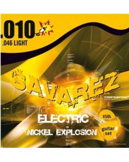 SAVAREZ Х50L струны для электрогитары Nickel Explosion 0,10-0,46 Light