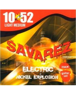 SAVAREZ Х50LМ струны для электрогитары Nickel Explosion 0,10-0,52 Light Medium