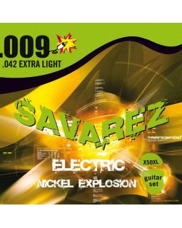 SAVAREZ Х50XL струны для электрогитары Nickel Explosion 0,09-0,42 Extra Light
