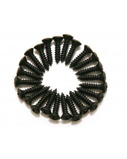 DIMARZIO FH1000BK PICKGUARD / BACKPLATE SCREWS - SET OF 24 (BLACK)